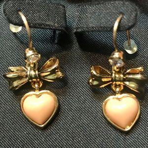 Juicy Couture vintage earrings 50's look pink ❤️